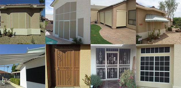 Completed Sun Screen and Security Door Installations